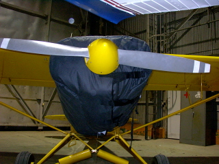Piper Cub thermo cowling cover blanket