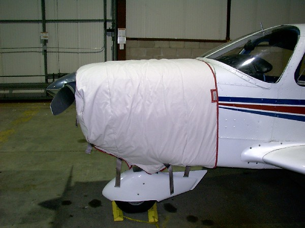 Piper PA 28 thermo cowling cover